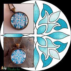 Mandalás nyaklánc (kedo) - Meska.hu Turquoise Necklace, Pendant Necklace, Jewelry, Mandalas, Jewlery, Bijoux, Teal Necklace, Jewerly, Jewelery