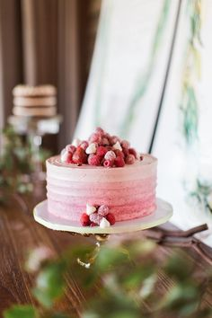 24 Summer Wedding Ideas to Copy for Your Own Celebration - Check out these steal-worthy summer wedding ideas, themes, and tips before you start planning your warm weather soirée. raspberries, berries, fruit, pink, ombre, cake {Danielle Coons Photography} Cheesecake Wedding Cake, Wedding Cake Flavors, Fall Wedding Cakes, Unique Wedding Cakes, Unique Cakes, Wedding Desserts, Creative Cakes, Summer Wedding, Birthday Cake Flavors