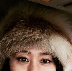 Selfie taken while driving down to PyeongChang for the last run of ski for the season, only place I can wear my fox fur hat without looking too ridiculous. ;-) Perhaps I do, but snow and the cold weather make it look okay I guess, I hope. :-)