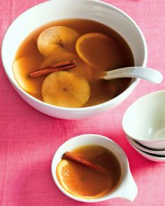 Warm Cider and Rum Punch-For a fun and festive holiday gathering,make this crowd-pleasing spiked punch.servings:10