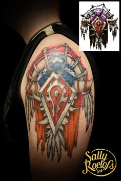 WOW tattoo, the horde