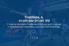 Definition of a triathlete :) Ironman Triathlon, Triathlon Training, Triathlon Motivation, Fitness Motivation, Exercise Motivation, Just Do It, Let It Be, Social Media Measurement, Half Ironman