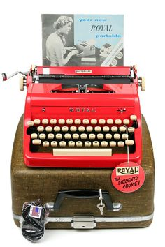 1957 Red Royal Quiet De Luxe Typewriter / by Retroburgh on Etsy