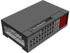 Raspberry pi case made out of legos