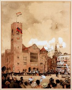 The Beurs van Berlage was the third exchange in Amsterdam that opened in 1903. The building was designed by the famous Dutch architect H.P. Berlage. The exchange had three trading floors. One for commodities, one for shares and one for grain.