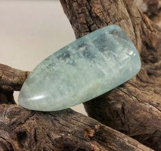 Aquamarine Bullet Tongue Designer cut Gemstone Drop by txrockhound, $35.00