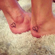 Matching mother daughter tattoo I got with my mom. infinity and heart tattoo Mother And Daughter Tatoos, Tattoos For Daughters, Mother Tattoos, Sister Tattoos, Bff Tats, Dream Tattoos, Future Tattoos, Piercing Tattoo, I Tattoo