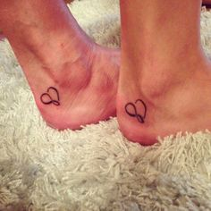 Matching mother daughter tattoo I got with my mom
