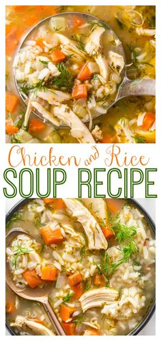 Rotisserie Chicken Soup, Chicken Veggie Soup, Chicken Rice Recipes, Easy Chicken And Rice, Healthy Rotisserie Chicken Recipes, Quick Rice Recipes, Making Chicken Soup, Healthy Cooking, Healthy Dinner Recipes