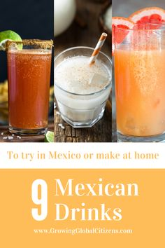 Read about 9 lesser-known drinks from Mexico that you can make at home! Types Of Chocolate, Mexican Hot Chocolate, Summer Drinks, Fun Drinks, Grapefruit Soda, Mexican Drinks, Best Dishes, World Recipes, Summer Treats