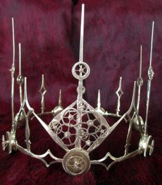 Steampunk Crown/Tiara with clock hands and by BluePlanetDog