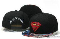 Kids Superman Snapback Hats Flat Hat Adjustable Caps Black 194