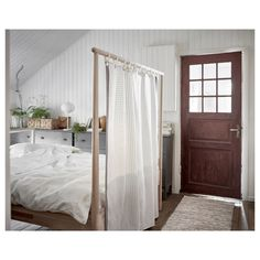 IKEA GJÖRA Bed frame Birch/luröy Standard Double You can decide the style of this bed frame. The untreated surface can be oiled, waxed or stained and the. Ikea Inspiration, Design Inspiration, Design Ideas, Cama Ikea, Full Bed Frame, Hallway Designs, Hallway Ideas, Bed Slats, Asian Home Decor