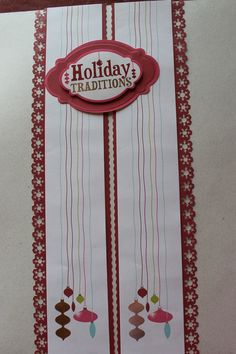 Holidazzle collection.  Alot of the title stickers are nicely framed by paper pieces from the embellishments pack.  I raise them on foam stickers for 3d fun.  The red border is punched with a Martha Stewart punch
