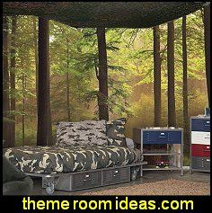 Extreme makeover home edition dickinson family for Army themed bedroom ideas