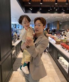 Chen with such a cute baby