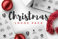 Christmas Logos Pack by Zeppelin Graphics on @creativemarket
