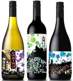 Wine labels by artist Anthony Kraus. These are fantastic! Wish I had gotten them when available.