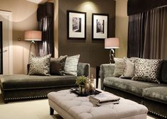 Another shot of clients beautiful living room. We used a textured paper to create a lovely cosy feel