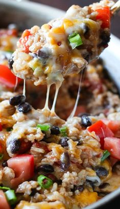 One-Pot Chicken Burrito Bowls