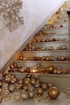 Shimmer + Snow: Copper, Shades of Brown, Antique Gold + White
