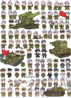 Caricaturas de soldados del mundo