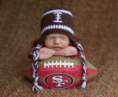 Hey, I found this really awesome Etsy listing at https://www.etsy.com/listing/198664869/baby-boy-hat-baby-football-hat-football
