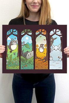 Spirit of the Seasons, Totoro / Miyazaki / Studio Ghibli | TeeFury