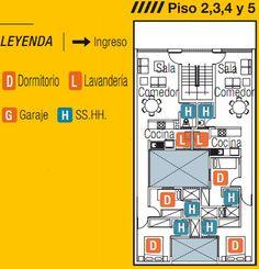 PLANOS PARA EDIFICIO CON GARAJES EN SEMISOTANO by planosdecasas.blogspot.com