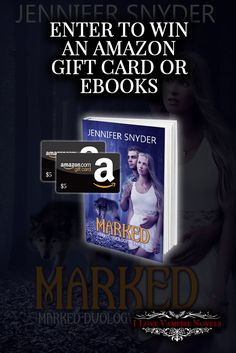Win a $5 Amazon Gift Card or eBooks from Author Jennifer Snyder http://www.ilovevampirenovels.com/giveaways/win-5-amazon-gift-card-author-jennifer-snyder/?lucky=288356
