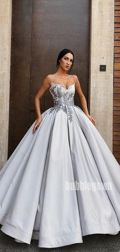 Elegant Spaghetti Strap Long Prom Dresses Ball Gown Source by gowns prom Sexy Dresses, Elegant Dresses, Pretty Dresses, Beautiful Dresses, Summer Dresses, Sparkly Dresses, Tailored Dresses, Elegant Ball Gowns, Awesome Dresses