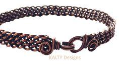 KALTY Designs - Designer Karen Laws Oxidised wire braid bangle, with the KALTY loop/hook closure.  Great unisex bangle.