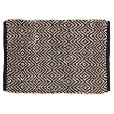 Zuma Black Rectangle Rug 20x30