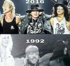 Ayer y hoy! Guns n' Roses back!