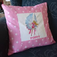 Fairy Personalised Name Pillow Cover Handmade Pillows, Custom Pillows, Handmade Gifts, Baby Pillows, Throw Pillows, Sun Hats For Women, Pillow Reviews, Poppies, Pillow Covers