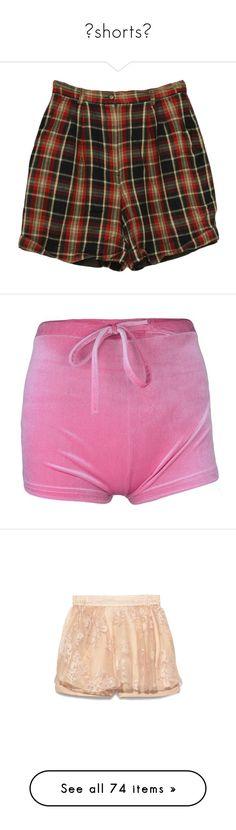 """🖤shorts🖤"" by mazzyfaye ❤ liked on Polyvore featuring shorts, bottoms, pants, short, tan shorts, red shorts, vintage high waisted shorts, linen shorts, izod shorts and activewear"