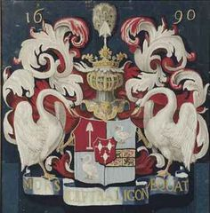 A Dutch tapestry cushion cover, c.1690, portraying the coat of arms of Pieter de Graeff. (Christie's)-.xx tracy porter-poetic wanderlust