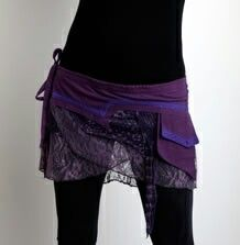 I love the hip scarf pouch, and the purple and lace makes it even more awesome.