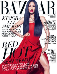 Kimora Lee Simmons Radiates on the Cover of Harper's Bazaar Singapore, Giving us Fabulous Fashion throughout the Spread (Go See! Kimora Lee Simmons, Sirens Fashion, African American Models, Lab, Fashion Magazine Cover, Magazine Covers, Beauty Detox, Original Supermodels, Barbie