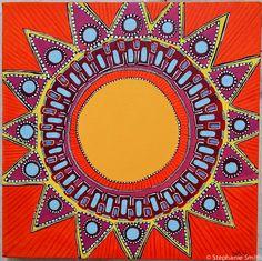 Mandala Art Sunshine Inspirational  by biffybeans