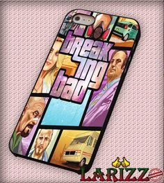 """Breaking Bad Gta Galaxy Nebula for iPhone 4/4s, iPhone 5/5S/5C/6/6 , Samsung S3/S4/S5, Samsung Note 3/4 Case """"007"""""""