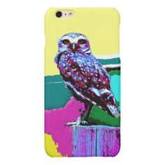 Colorful Owl on a post Posterization Matte iPhone 6 Plus Case