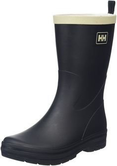 Helly Hansen Women's Midsund 2 Rain Boot, Black/Natural, 9 M US ** Click on the image for additional details.