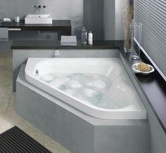 Baignoire d 39 angle sur pinterest baignoire d 39 angle baignoire remo - Baignoire d angle lapeyre ...