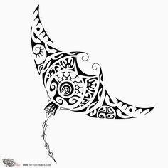 Design - Manta ray tattoo