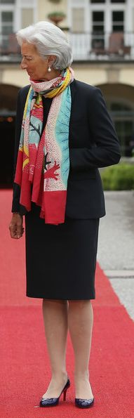 International Monetary Fund (IMF) Managing Director Christine Lagarde on the second day of the summit of G7 nations at Schloss Elmau on June 8, 2015