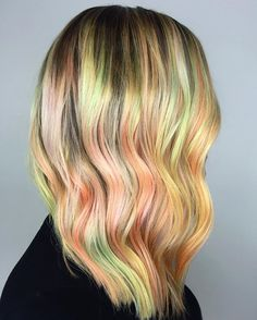 rainbow🍦sherbet . . . . . . . . . . . . . . . #rainbowhair #rainbowsherbert #pastelhair #btconeshot_rainbow16 #yellowhair #peachhair #pinkhair #orangehair #balayage #lasvegasbalayage #lasvegashairstylist #laavegassalon #vegasstylist #vegashair #vegasnay #icecreamhair #hairpainting #lasvegashairpainting #beachwaves #beachhair #summerhair #vegaslivin #hairlove #hairtalk #hairlife