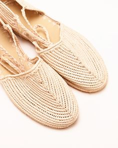 Proud Mary  Raffia Flat In Natural
