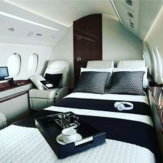 "2,888 Likes, 123 Comments - Luxury • Cars • Yacht (@luxoticy) on Instagram: ""Private jet interior Sexy Tag your love Go checkout @luxdrone Use #luxoticy to get featured."" #luxuryprivatejets #luxuryhelicopter"