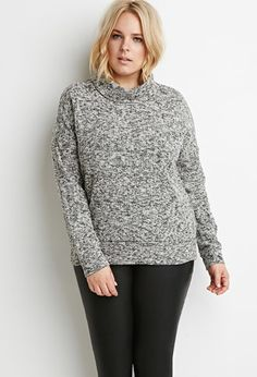 Plus Size Diamond-Knit Sweater | Forever 21 PLUS - 2000057637 ...